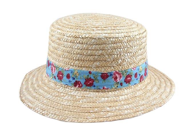 Dantiya donne cappello da sole in paglia spiaggia stile di campagna  floreale di grande N   62e50e703eb3