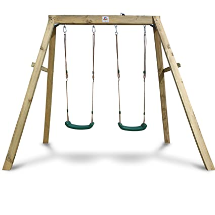 Amazon Com Outward Play Holt Wooden A Frame Two Seat Swing Set