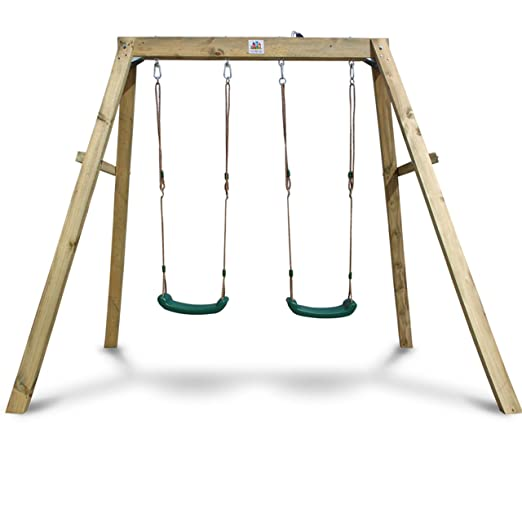 Amazon.com: Outward Play Holt Wooden A-Frame Two Seat Swing Set ...