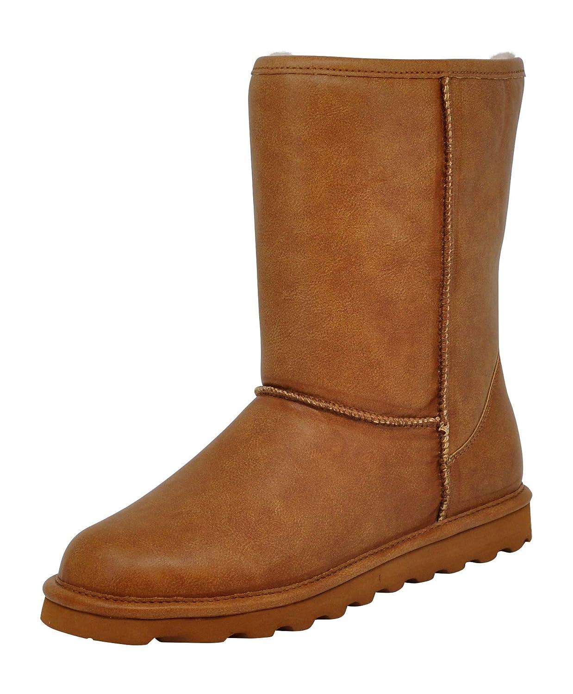 Tan Smooth Bearpaw Women's Elle Short Winter Boot