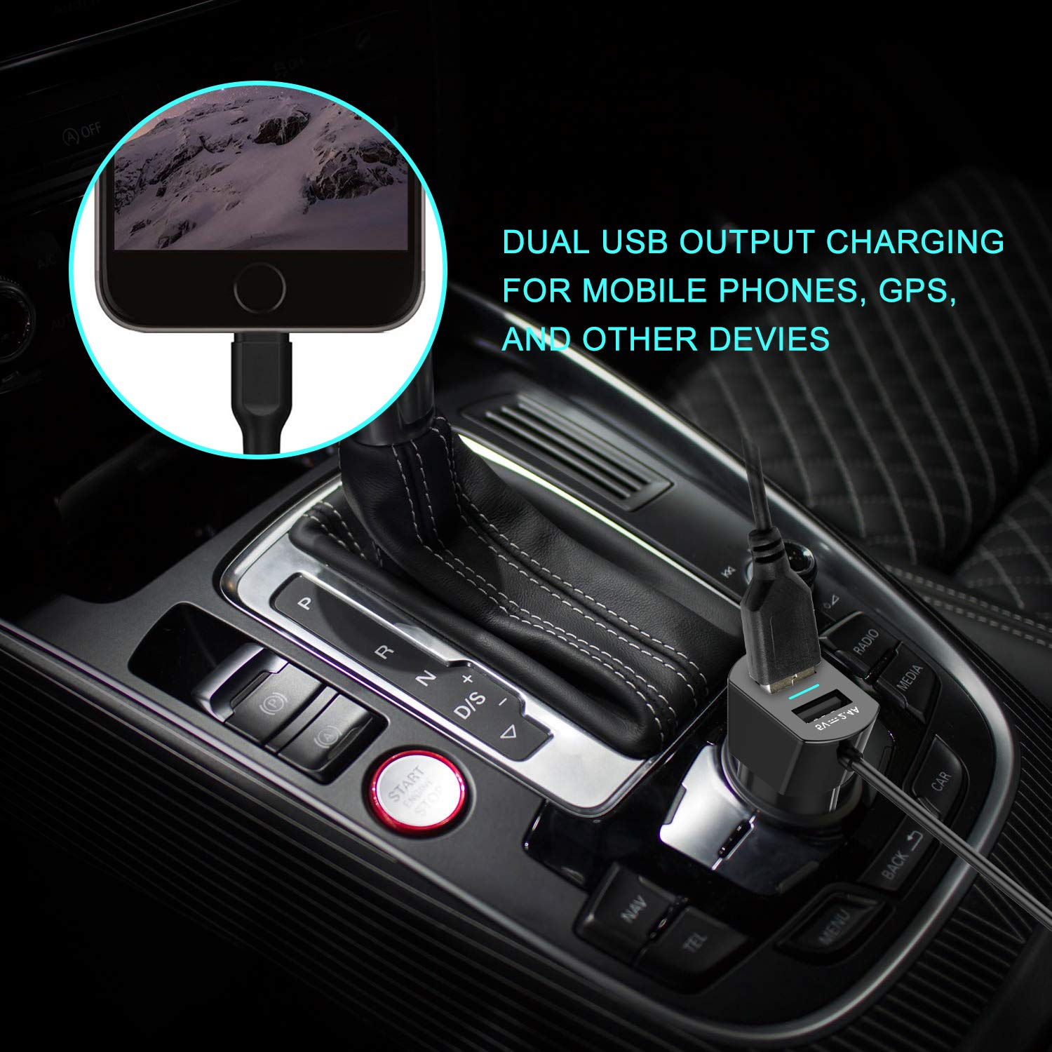 FM Transmitter Aux for iPhone 6s//5//SE//iPad//Samsung//MP4 Audio Players Beinhome 2019 FM Transmitter for Car with 3.5mm Aux Port FM Radio Transmitter with 2 USB Car Charger FM Transmitter