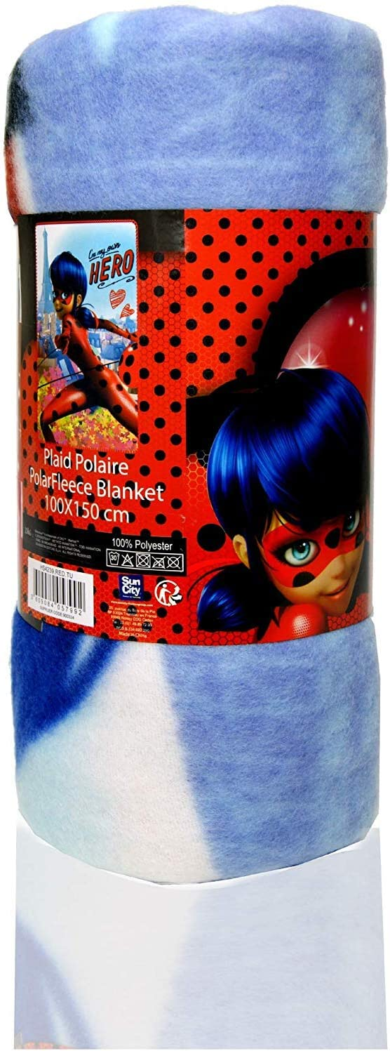 Miraculous Ladybug Kids Polar Fleece Blanket 100 x 150 cm Black