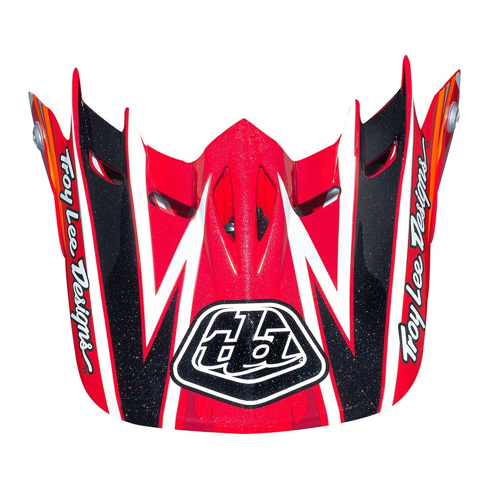 Troy Lee Designs Adult D2 Visor Proven BMX Helmet Accessories - Red/One Size