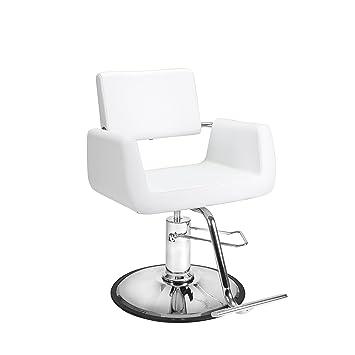 Amazon.com: Salón de belleza estilo silla Aron blanco ...