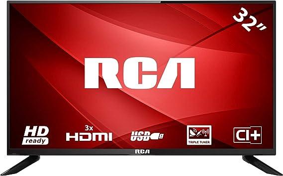 RCA RB32H1 LED TV (32 Pulgadas HD TV), Ci+, HDMI+USB, Triple Tuner ...