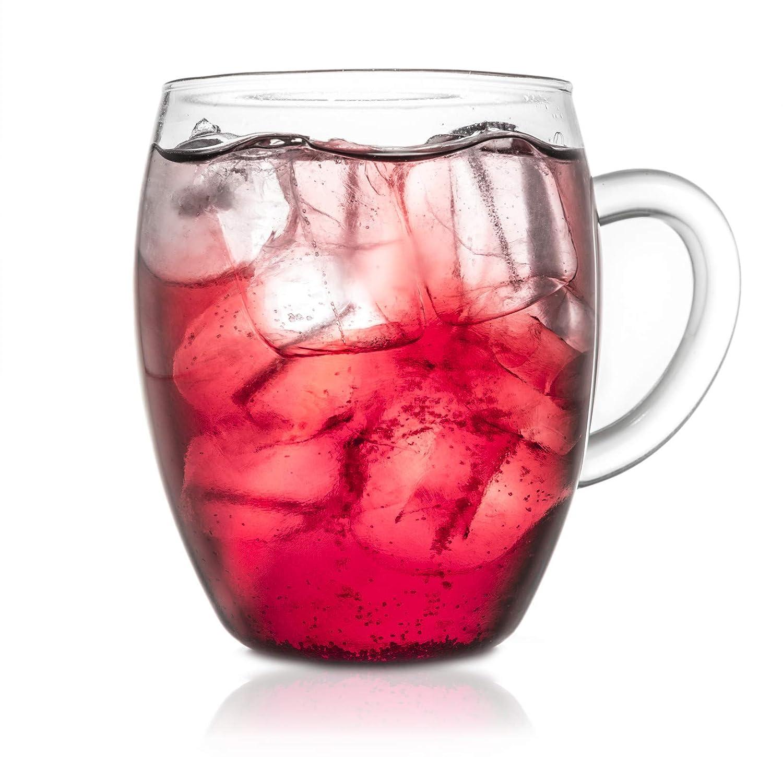 Creano 092 - Taza de t de Cristal con Filtro Integrado y ...