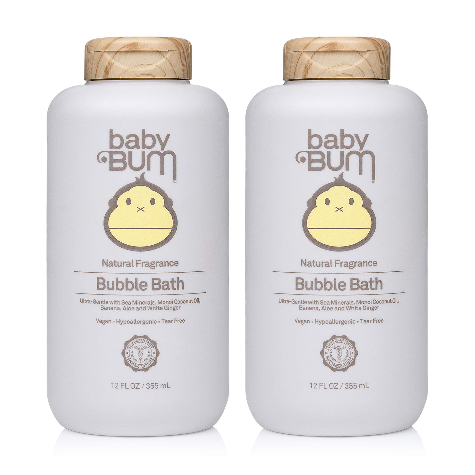 Baby Bum Bubble Bath Natural Fragrance Tear Free Soothing White Ginger for Sensitive Skin, 12 FL OZ (Pack of 2) by Baby Bum