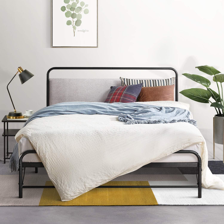 Amazon Com Mellow Nomadi Patented Bifold Design Metal Platform Bed With Upholstered High Density Foam Headboard Cloud Grey Twin Ml Fm No Cgt Furniture Decor