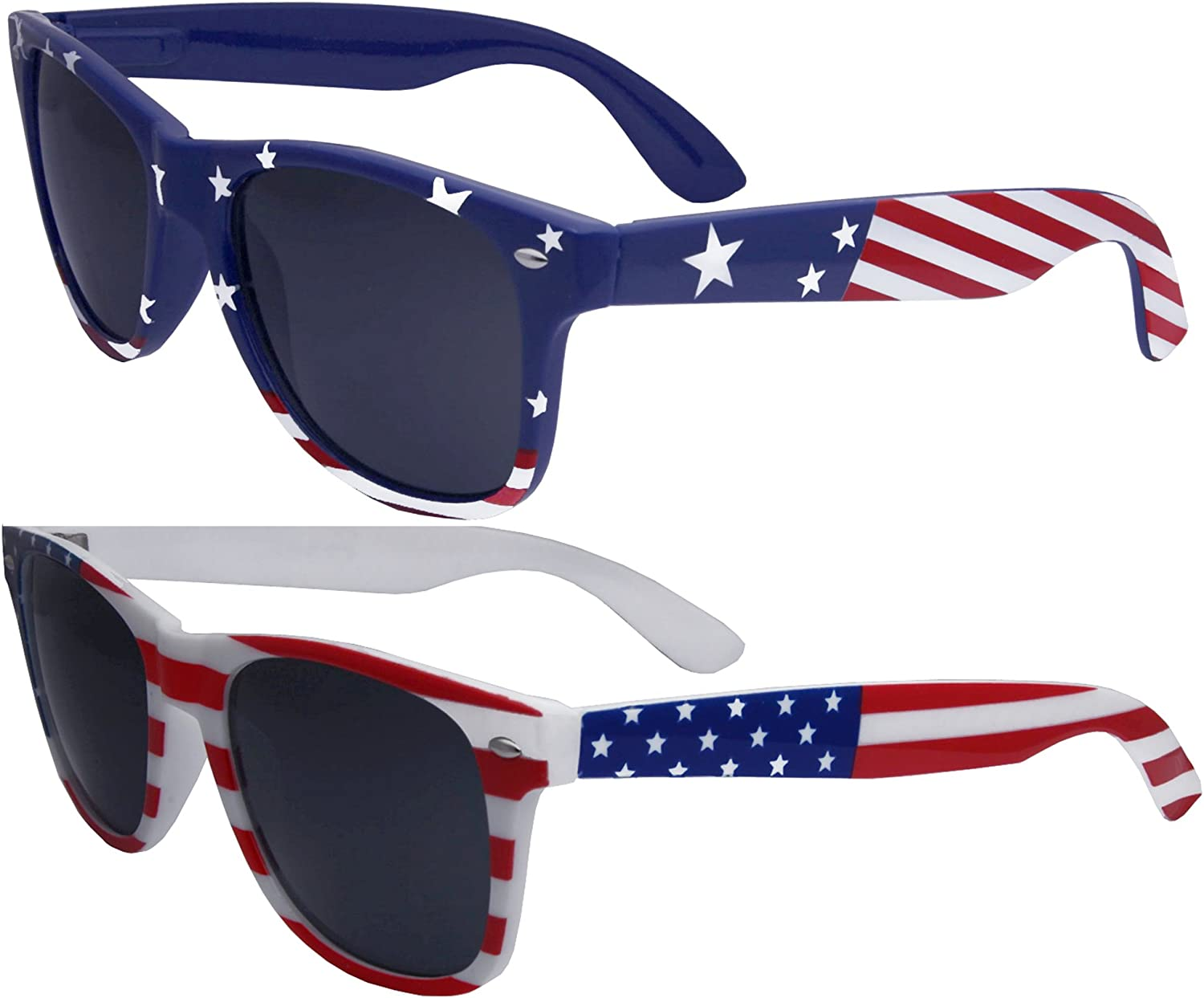 American Flag Sunglasses with case