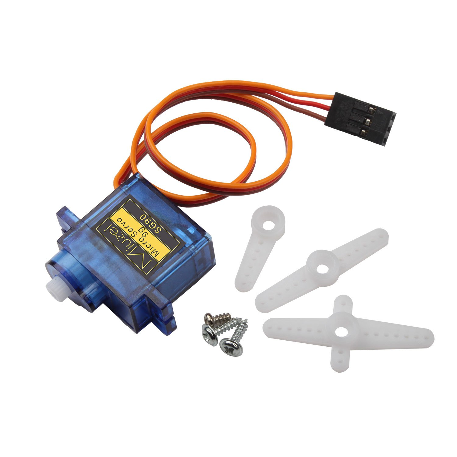 10 pcs SG90 9G Micro Servo Motor Kit for RC Robot Arm Helicopter Airplane Remote Control by Miuzei (Image #2)
