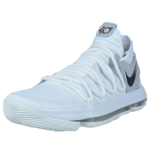 buy popular ad1a3 aefa3 Nike Mens Kevin Durant KD 10quot Chrome Basketball Shoes WhiteChrome  897815-100 ...