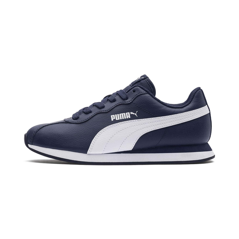 Turin II Jr Peacoat White Sneakers-3 UK