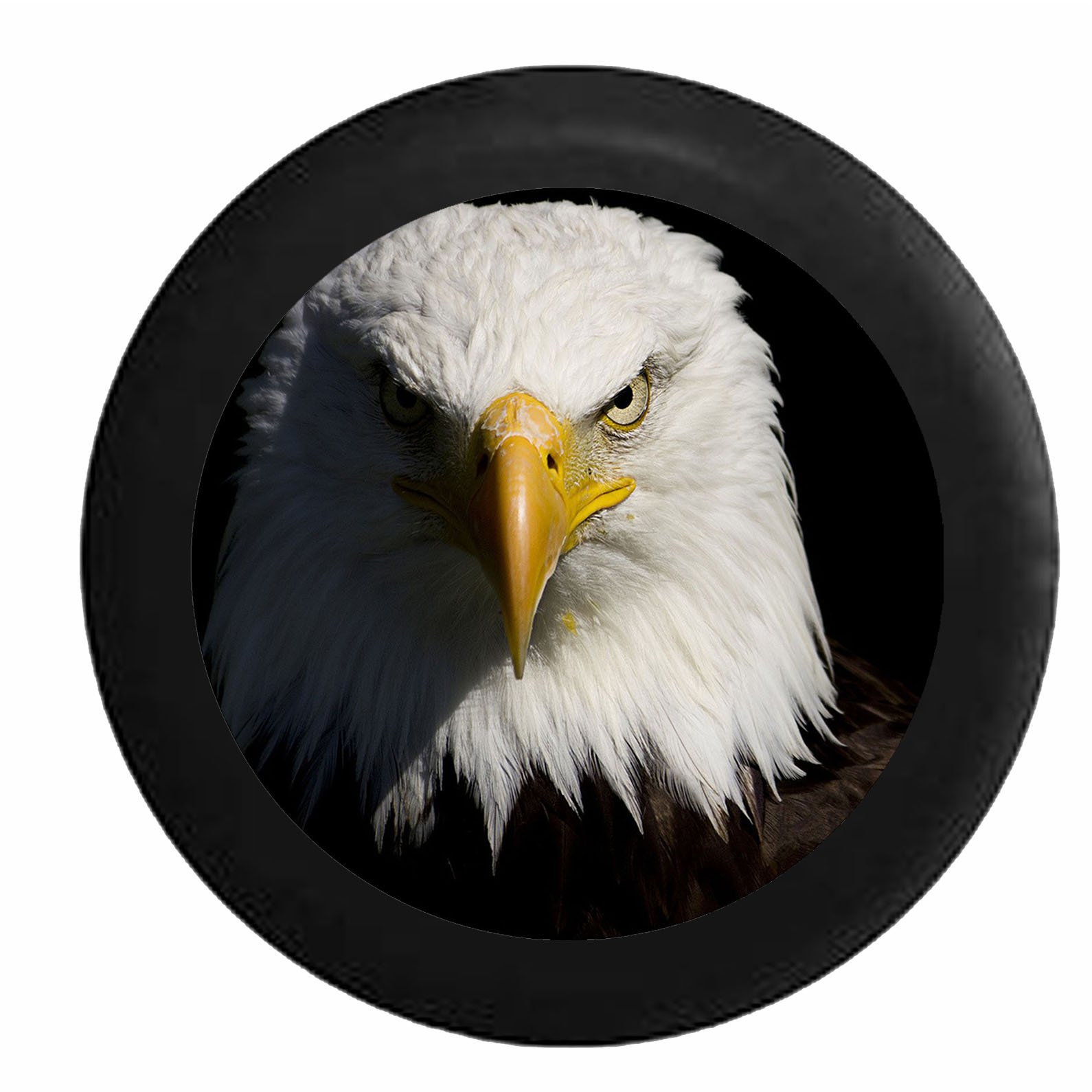 Full Color Staring American Bald Eagle Closeup Spare Tire Cover fits SUV Camper RV Accessories Black 26-27.5 in by Pike Outdoors