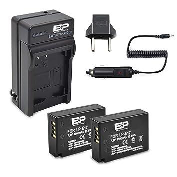 BP LP-E17 - Lote de 2 baterías y Cargador para cámara réflex ...