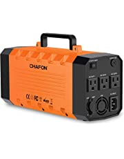 Chafon 346WH Portable UPS Battery Backup,Rechargeable Generator Power Source Inverter with 110V/500W AC Outlet,12V Car,USB Output,for Outdoors and Indoors -Orange