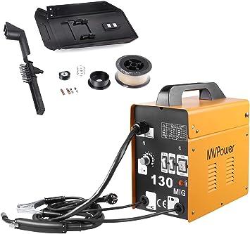 Fülldraht Schweißgerät Elektrodenschweißgerät Elektroden MIG130 Inverter 50-120A