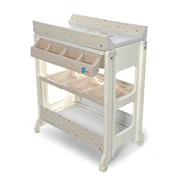 Changing Table And Bath | Beige Friends Design | Changing Unit With Storage  Compartments | Changing