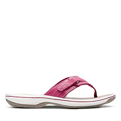 34a4867818e Clarks Brinkley Sea Synthetic Sandals in Magenta Standard Fit Size 4 ...