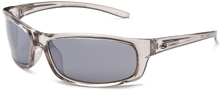 amazon com sunbelt rush 112 resin sunglasses crystal grey frame