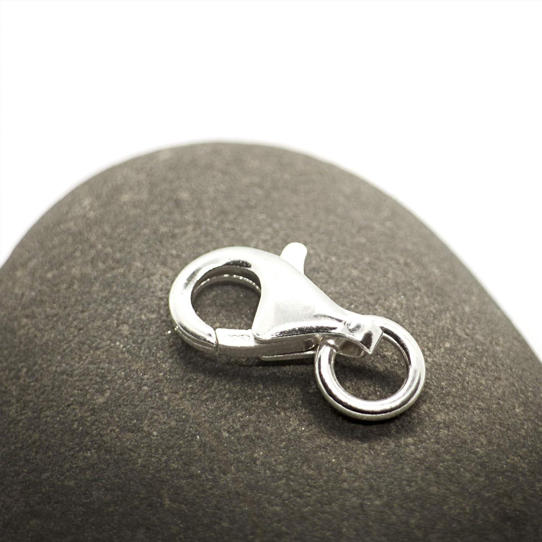 Fermoir en Argent 925 Sans Nickel pour Colliers et Bracelets 8mm