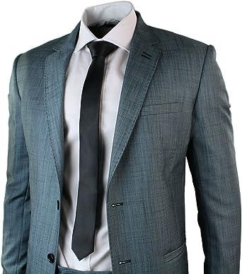 Señor Traje Azul (2 piezas, pantalón y chaqueta negro Trimm 2 ...