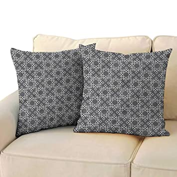 Amazon.com: Ediyuneth Throw Pillow Cushion Cover Grey and ...