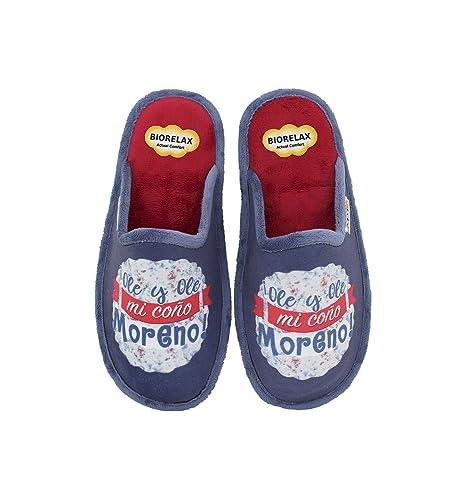 Biorelax by Zapattu - Zapatillas de Casa Mujer ¡Ole y Ole mi coño Moreno!: Amazon.es: Zapatos y complementos