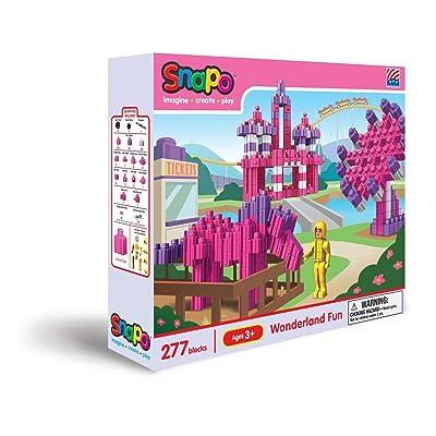 Snapo Wonderland Fun 278 Piece Interlocking Building Block Set: Toys & Games