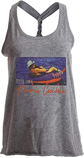 2319ee7aa929f Amazon.com: Womens Country Music Yoga Workout Racerback Tank Tops Hotter  Than A Hoochie Coochie Funny Sleeveless T Shirt Tanks: Clothing
