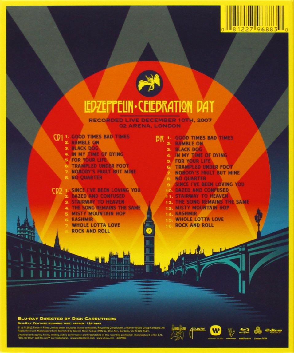 Led Zeppelin - Celebration Day Reino Unido Blu-ray: Amazon.es: Led Zeppelin, Jimmy Page, Robert Plant, John Paul Jones, Jason Bonham, Dick Carruthers: Cine ...