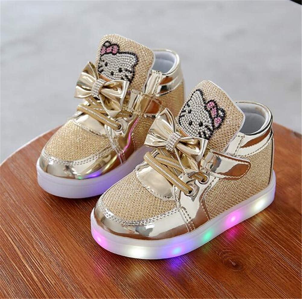 zapatos deportivos para ni/ños y ni/ñas zapatos para correr para ni/ñas Zapatillas de deporte para ni/ños zapatos con luz LED de dibujos animados para ni/ños zapatillas para beb/és y beb/és