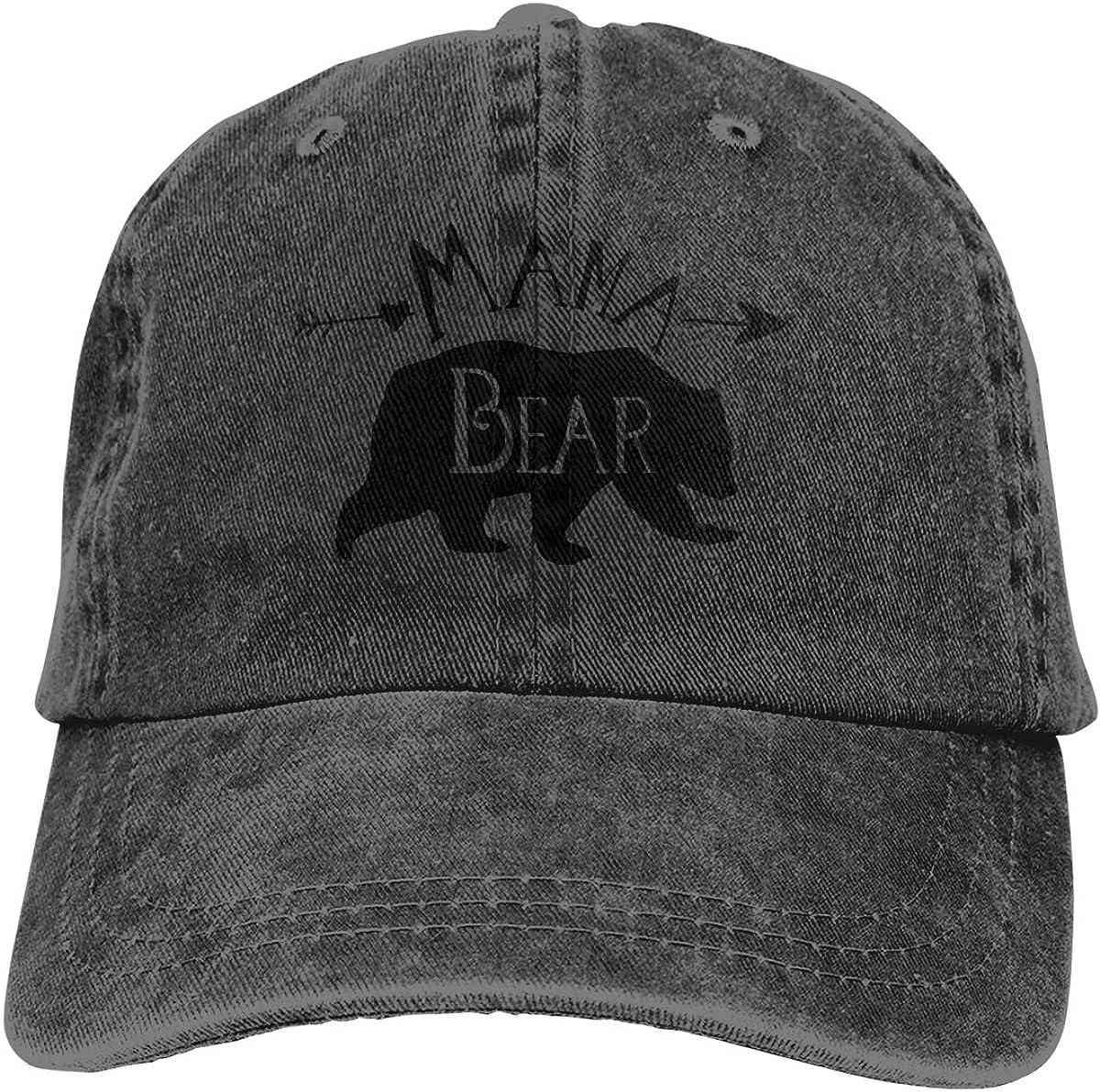 Mama Bear Adult Personalize Jeans Hip Hop Cap Adjustable Baseball Cap