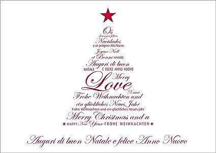 Auguri Di Buon Natale E Buon Anno.Auguri Di Buon Natale E Felice Anno Nuovo Con Busta 4 Amazon It Cancelleria E Prodotti Per Ufficio