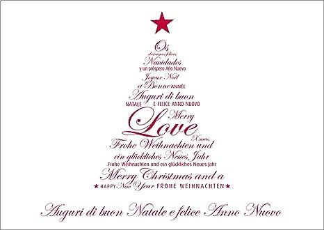 Auguri Di Buon Natale Francese.Disponibile In 1 4p Set Di 8 Semplice Pieghevole Auguri