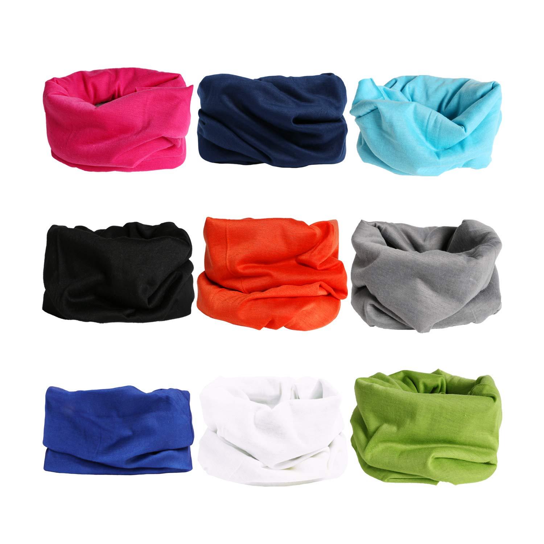 Landisun Headwear Headband Multifunctional Seamless Elastic Magic Outdoor Bandana Scarf UV Resistance