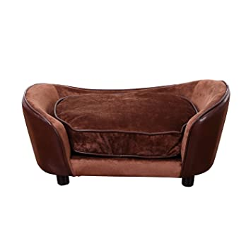 Fine Pawhut Luxury Pet Sofa Dog Bed Chair Puppy Cat Kitten Soft Mat Home Indoor Couch House W Cushion Coffee Large Interior Design Ideas Helimdqseriescom