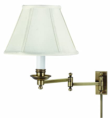 House of troy ll660 ab library lamp collection swing arm wall lamp antique brass with