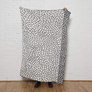 product image for in2green Eco Reversible Peel Throw by Jill Malek - 50 x 60 - Smoke/Milk
