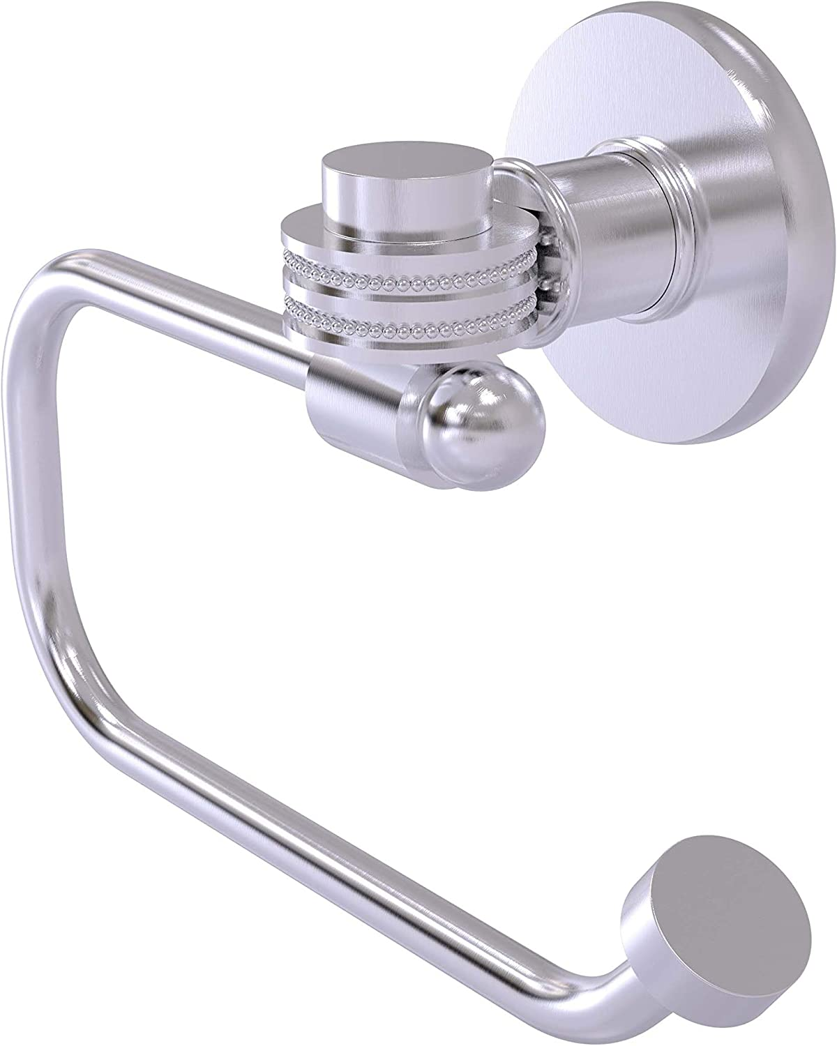 Satin Nickel Allied Brass 924ED-SN Mercury Collection Euro Style Tissue Dotted Accents Toilet Paper Holder
