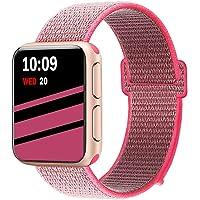 Tfheey Brand Compatible con Apple Watch Correa 38mm/40mm/42mm/44mm, Nylon Reemplazo Sport Banda Reemplazo para Watch Series 4/Series 3/Series 2/Series 1