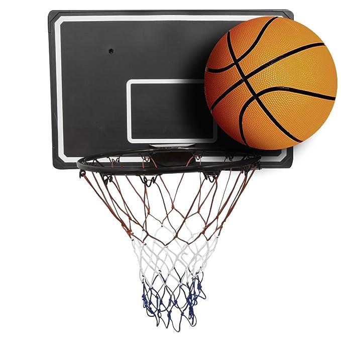 2 opinioni per Charles Bentley Set da Basket con Cerchio da 45 cm, Rete da 90 cm, tabellone e