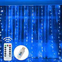 Amazon Price History for:Funpeny Window Curtain String Lights, 300 LED 8 Lighting Modes Fairy Lights USB Powered, Waterproof Lights for Christmas…