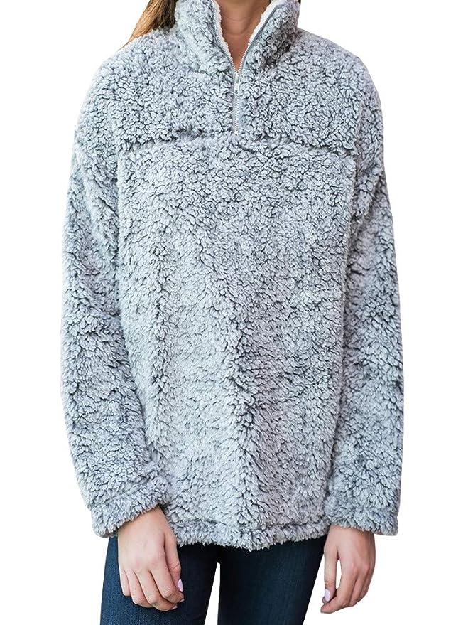 Amazon.com: Bluesarey - Sudadera de forro polar con ...