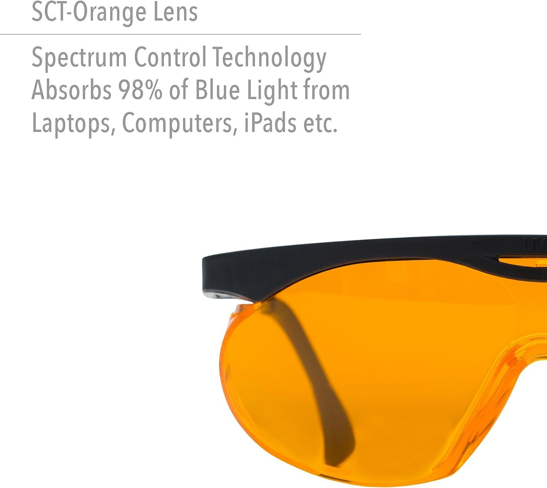 Uvex Skyper lumière bleue blocage Ordinateur Lunettes avec SCT-Orange Lens S1933X