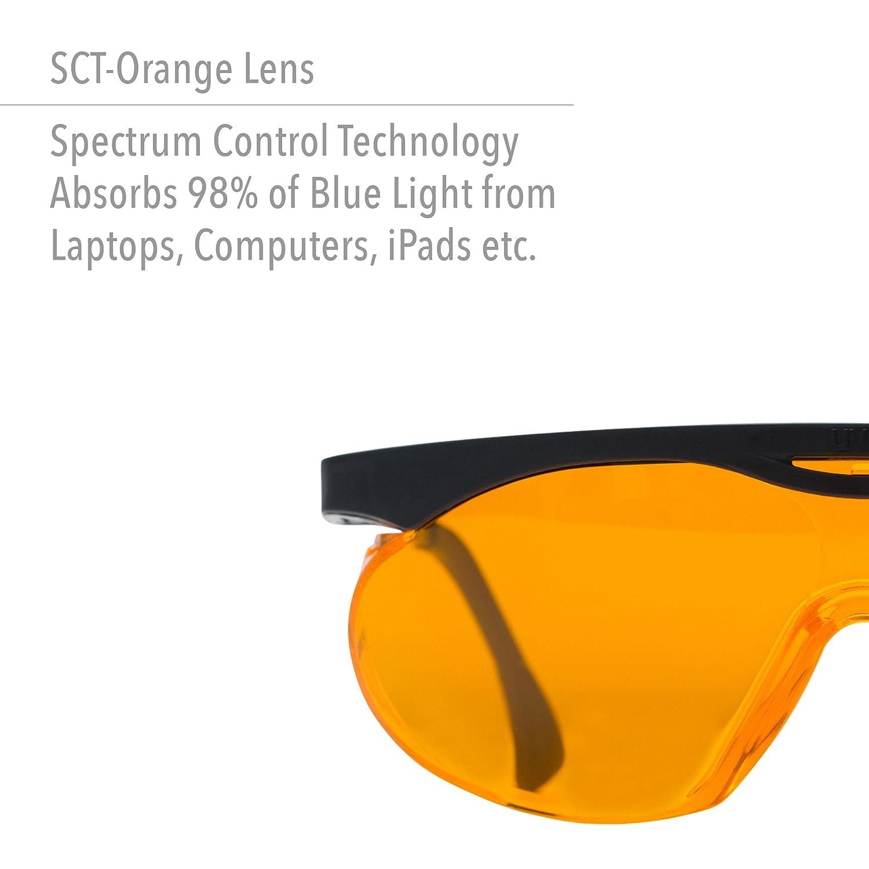 3582252516 Uvex Skyper Blue Light Blocking Computer Glasses with SCT-Orange Lens  (S1933X) - Safety Glasses - Amazon.com
