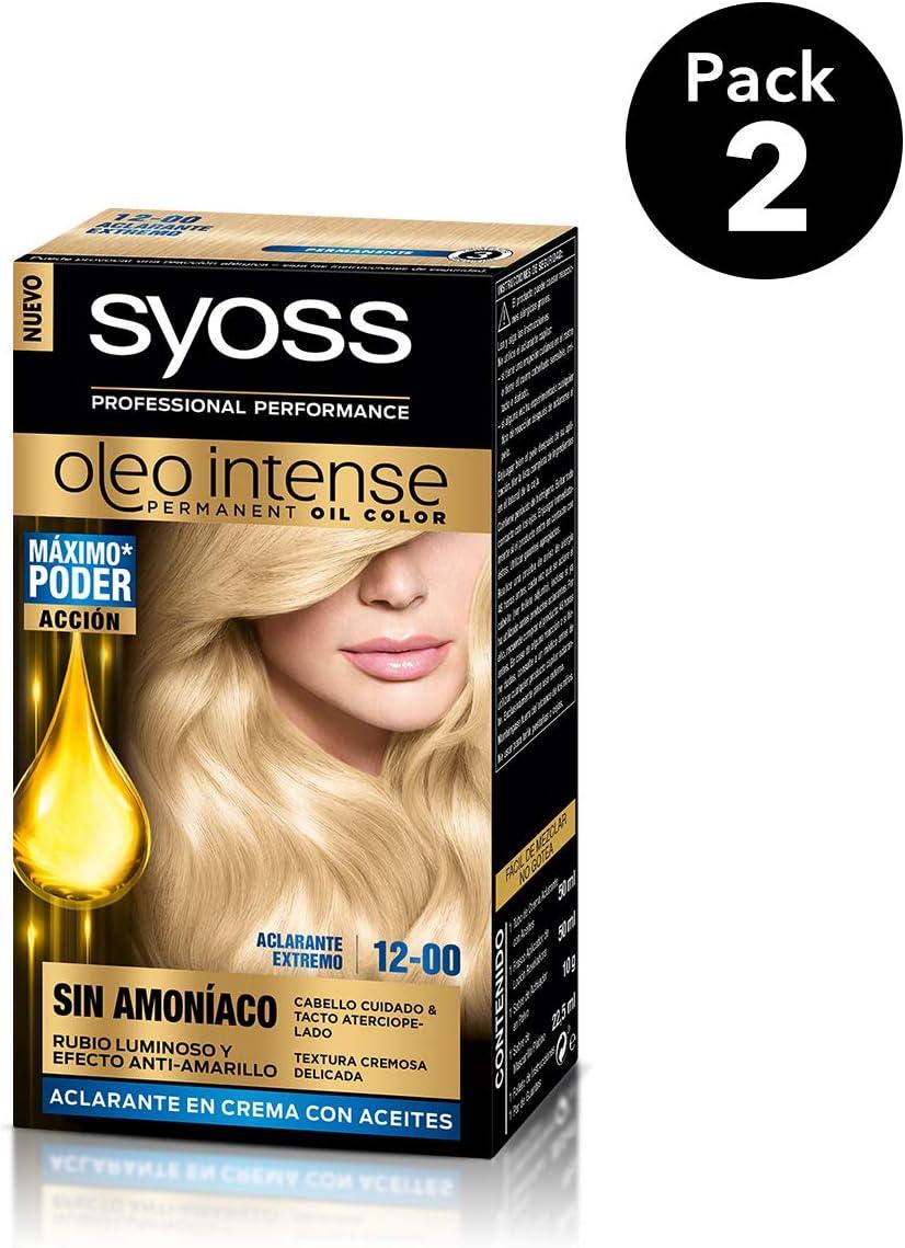 SYOSS - Oleo Intense Coloración Permanente Sin Amoníaco - Tono 12 Aclarante Extremo - 2 uds