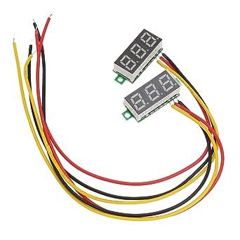 Merssavo 2 Pcs Dreidraht Dreistellige LED DC 0-100V Mini Voltage ...
