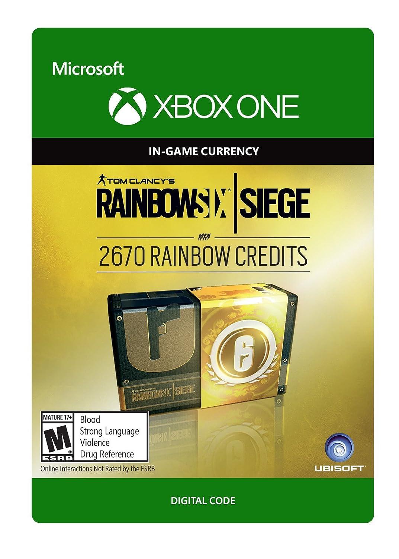 Amazon Com Tom Clancy S Rainbow Six Siege Currency Pack 2670 Rainbow Credits Xbox One Digital Code Video Games