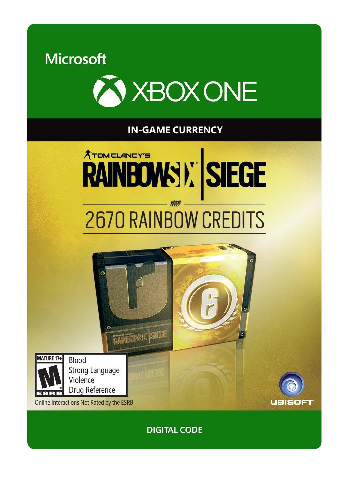 Tom Clancy's Rainbow Six Siege Currency pack 2670 Rainbow credits - Xbox One [Digital Code] by Ubisoft