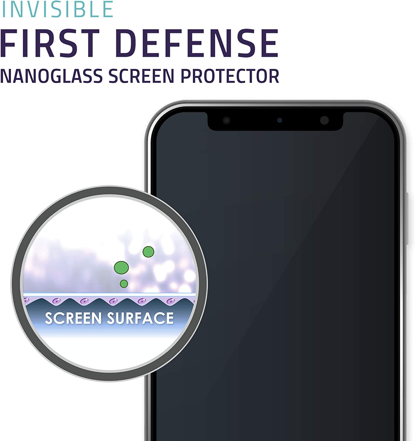 QMADIX Invisible First Defense Nano Liquid Screen Protector [Scratch Resistant] for All iPhone, iPad, Apple Watch, Samsung Phones - Extreme Liquid ...